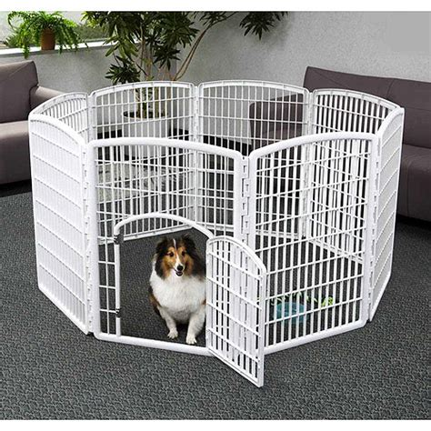 indoor puppy playpen iris 8 panel indoor outdoor pet pen 63 quot wx63 quot lx34h quot white walmart