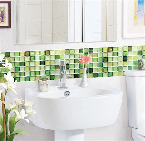 blue and green bathroom ideas lime green glass tiles ideas and products