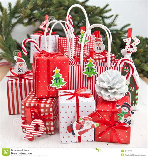 little gifts for christmas time royalty free stock images