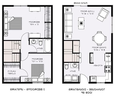 two bedroom townhouse plans townhouse plans with photos