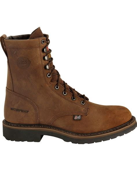 justin steel toe lace up boots justin wyoming waterproof 8 quot lace up work boots steel