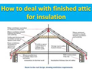How To Insulate An Attic Ceiling by How To Deal With Finished Attic For Insulation
