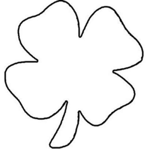 Free Clover Flower Coloring Pages Four Leaf Clover Color Page