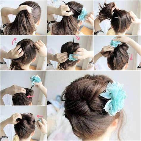 how to diy easy and elegant bun hairstyle icreativeideas how to diy easy bun hairstyle using chopstick diy girls