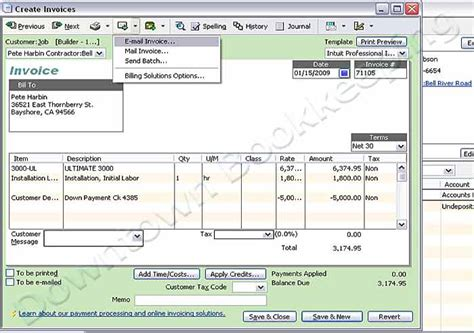 Quickbooks Email Cover Letter Downtown Bookkeeping Email Proposals Invoices In Quickbooks