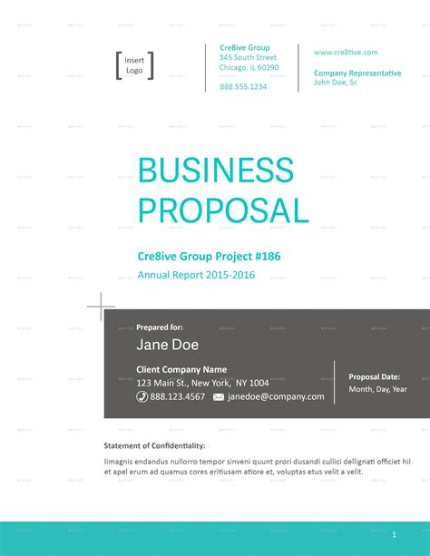 business proposal template by caallen graphicriver