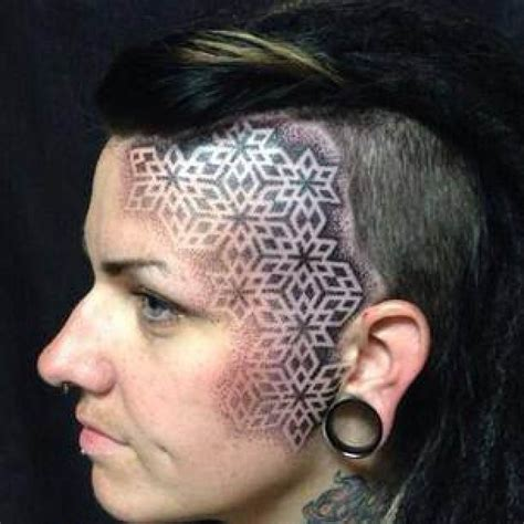 Pattern Head Tattoo | head tattoo pattern motif ideas tattoo designs