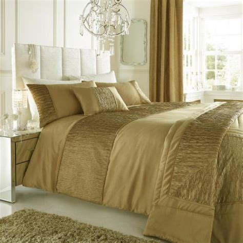 Gold Bed Set Gold King Size Duvet Quilt Cover With Crinkle Faux Silk Taffeta Band By Laika Designs Http