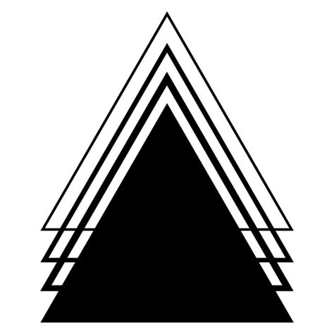 25 unique geometric triangle tattoo ideas on pinterest