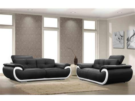 canap駸 et fauteuils en solde canap 233 et fauteuil en cuir 4 coloris bicolores smiley