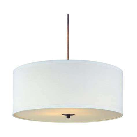 Drum Shade Pendant Lights Bronze Drum Pendant Light With White Shade Dcl 6528 604 Sh7566 Kit Destination Lighting