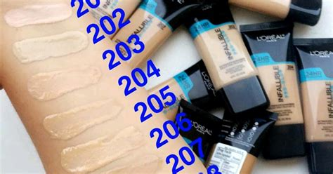 L Oreal Infallible Pro Glow swatches of l oreal infallible pro glow foundation the