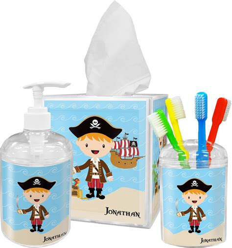 pirate bathroom accessories pirate scene bathroom accessories set personalized
