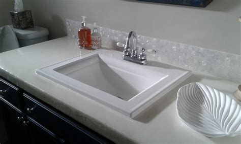 backsplash tile bathroom white groutless pearl shell tile bathroom vanity