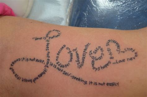 love is patient love is kind tattoo designs is patient is poem by joel