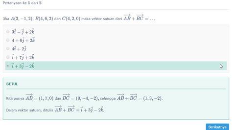pelajaran soal rumus vektor lengkap wardaya college
