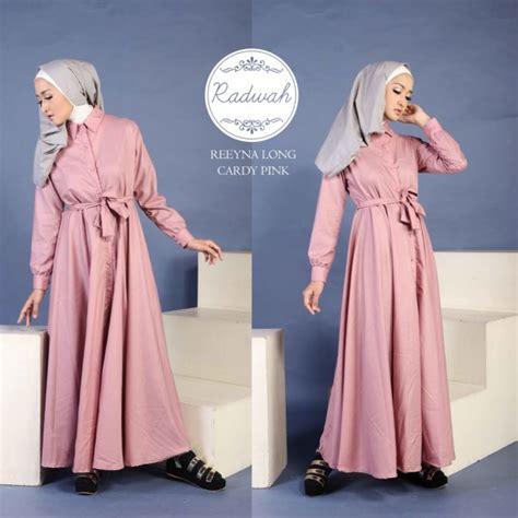 Tunik Radwa radwa reeyna longcardy pink bahan katun ima 365000