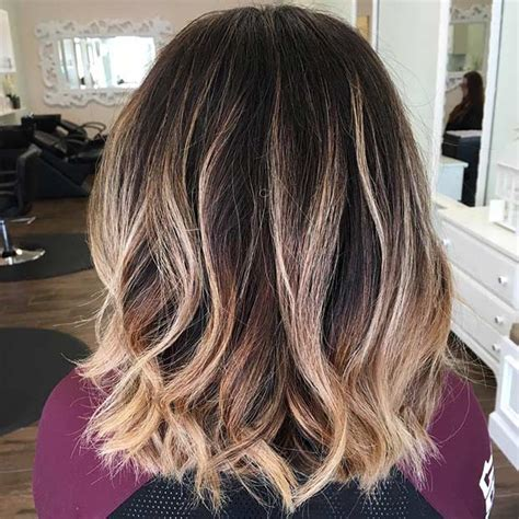 ombre balayage color melt blonde highlights long bob 31 cool balayage ideas for short hair stayglam