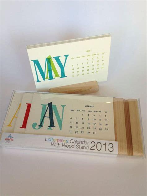 desk calendar with stand 2014 letterpress desk calendar with wooden stand