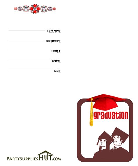 Graduation Cards Free Templates by Printable Graduation Invitation