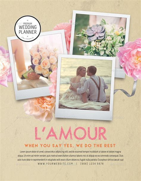 Wedding Planner Flyer by Wedding Planner Flyer Template By Tunagaga Graphicriver