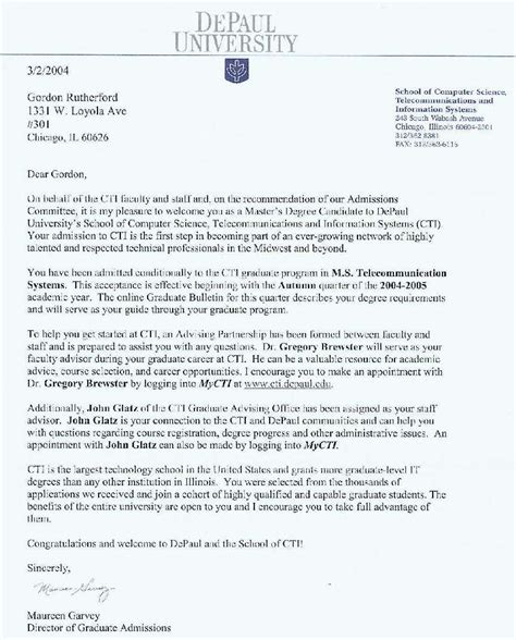 Acceptance Letter For School Admission Acceptance Letter