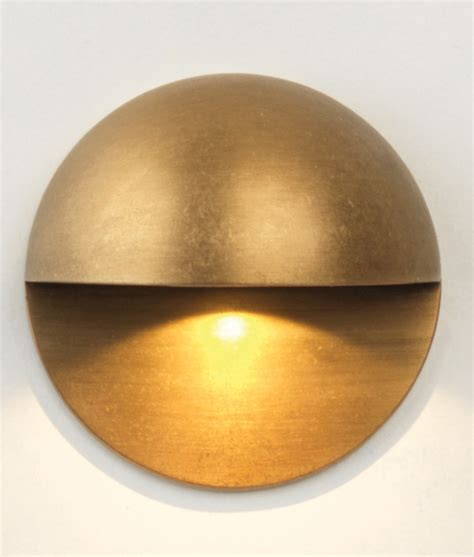 brass outdoor wall light round half dome led wall light ip65 rated