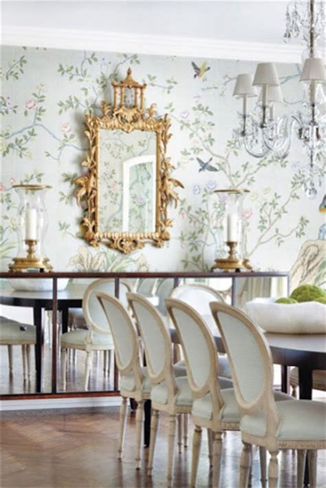 dining room wall paper chinoiserie chic the neutral chinoiserie dining room
