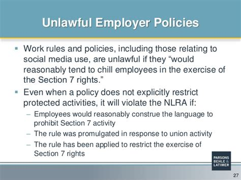 nlra section 7 protected activity do your company s policies need a social media overhaul