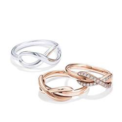 Infinity Ring Tiffanys Rings In Gold Silver Diamonds For And