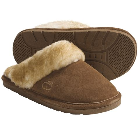ladies house shoes lamo sheepskin scuff slippers for women save 35