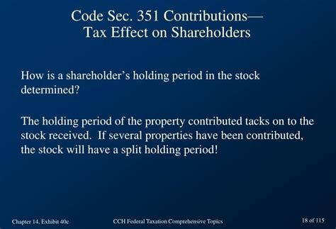 tax code section 351 ppt chapter 14 taxation of corporations basic concepts