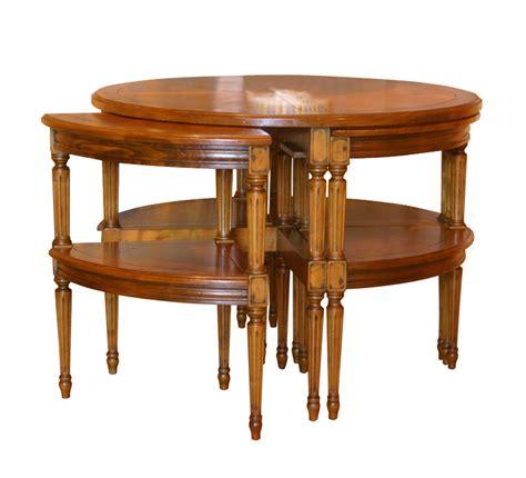 table de salon gigogne cinq quarts de style louis xvi