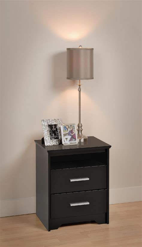 how tall should a nightstand be prepac black coal harbor 2 drawer tall nightstand with