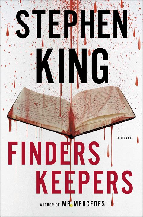 finders keepers book by stephen king official