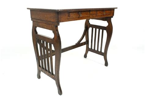 oak end tables with drawers antique oak lyre end table with drawers 353705
