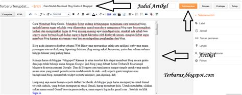 cara membuat artikel mudah cara mudah membuat blogspot pembuatan website