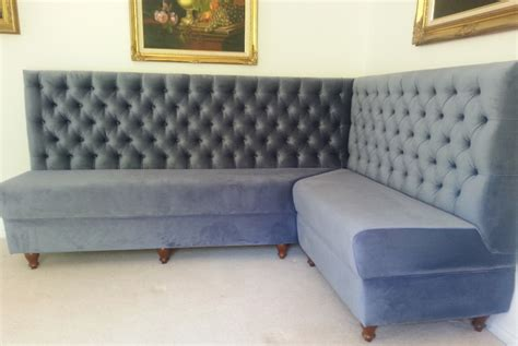 Velvet Banquette Seating by Booth Banquette Seating Solutions