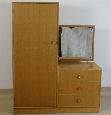vintage teak meredew wardrobe with dressing table