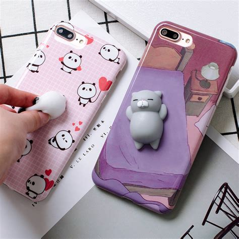 For Iphone 7 Squishy Cat Squeeze Soft Silicone C Limited squishy 3d panda cat phone cases for iphone 6 6s plus 7 7plus soft silicon