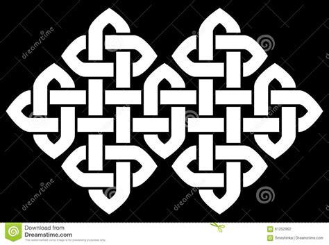 cornici celtiche a knot frame vector illustration vector