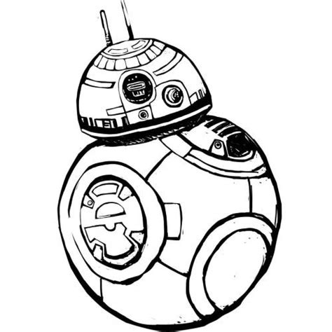Bb8 Drawing Outline by Bb8 Droid Coloring Pages Coloring Pages