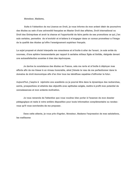 Lettre De Motivation Obtention Visa Lettre De Motivation