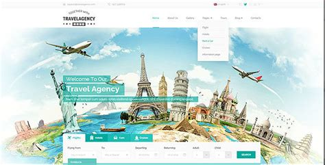 travel agency bootstrap template  mecovache themeforest