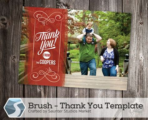 4 x 6 thank you card template thank you card template brush 5x7 and 4x6 photoshop