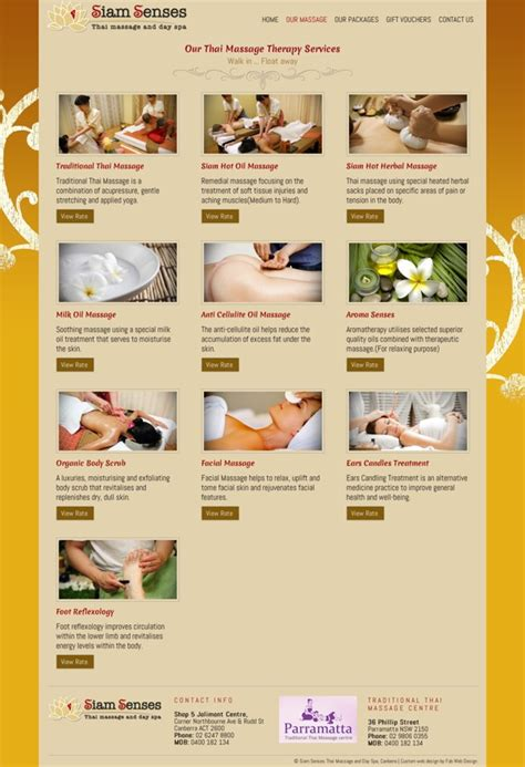 Fab Site Daszigncom by Website Design For Siam Senses Thai And Day Spa