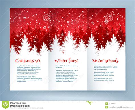 templates brochure snow removal red and white christmas leaflet design stock vector