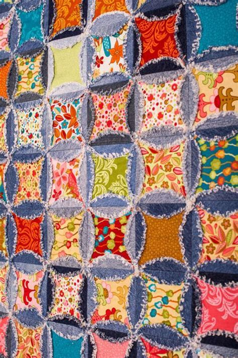 Denim Rag Quilt Pattern by You To See Denin Rag Quilt By Patch1