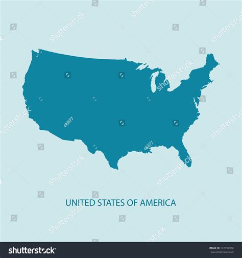 vector map of us states usa map vector us map vector united states of america