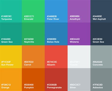 flat color combination 20 incredible new freebies for web designers